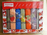 Вафельные полотенца Mercan в наборе / неделька / кухня 7шт 40х60 / Tурция  pr-86