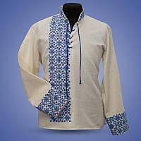 Мужская вышитая сорочка с модной вышивкой