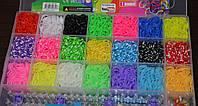 Резиночки для плетения браслетов Rainbow Loom bands 5200 шт