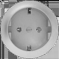 Лицевая панель розетка силовая 2К+З немецкий стандарт крепление на защелках Титан Legrand Celiane (68431)