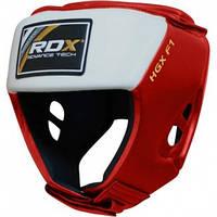 Боксерский шлем для соревнований RDX Red. Доставка бесплатно! Красный