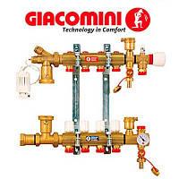 """Сборный узел для системы отопления в полу, с расходомером 1"""" X18 /5 Giacomini"""