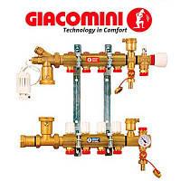 """Сборный узел для системы отопления в полу, с расходомером 1"""" X18 /6 Giacomini"""