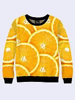 Модный женский свитер с изображением сочных апельсинов