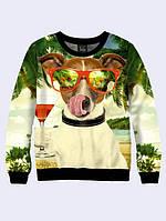 Женский модный свитшот Собака в очках