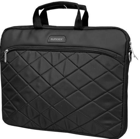 "Мужская надежная сумка для ноутбука 15,6"" Sumdex Passage PON-328BK черный PON-328GY серый"