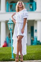 Летнее хлопковое белое платье Chloe прошва размеры 42-48