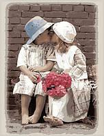 Картина по номерам на холсте Идейка Поцелуйчик KH1044