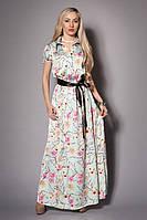 Модное платье в пол   с красочным принтом