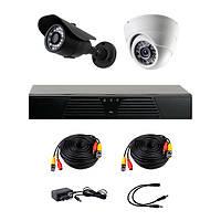 Комплект AHD видеонаблюдения на 2 камеры (1+1) CoVi Security AHD-11WD KIT