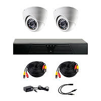 Комплект видеонаблюдения CoVi Security AHD-2D на 2 внутренние камеры