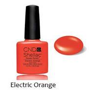 Лет. кол. 2014 Гель-лак Shellac Elektric Orange (яркий оранжевый) 7,3 ml