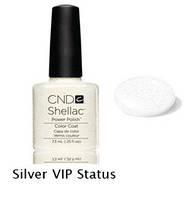 Гель-лак Shellac Silver VIP Status 7,3 ml 536 (серебряный микроблеск)