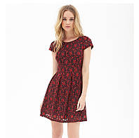Короткое пышное платье  с молнией на спине