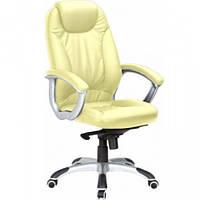 Кресло для руководителя Неон HB кожзам бежевый (J-9024 PU Biege)
