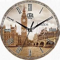 Настенные часы Vintage 'Лондон' 330Х330Х16мм (в часах нет секундной стрелки)