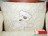 Комплект детского постельного белья Bepino с вышивкой Мишка с овечкой