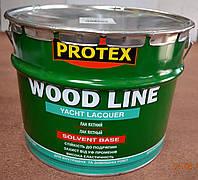 Лак яхтный полиуретановый (полуматовый) Wood Line Yacht Lacquer  Protex  10 л