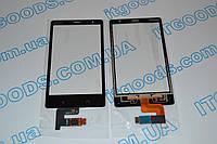 Оригинальный тачскрин / сенсор (сенсорное стекло) для Nokia X2 Dual SIM (черный цвет, чип Synaptics) + СКОТЧ