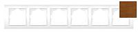 Рамка 6-я EL-BI Zena Woodline Вишня