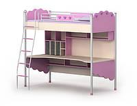 Кровать+стол Pn-16-1 (матрас 90*200 см. ) мебель детская.