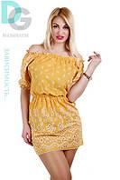 Платье хлопковое желтое