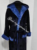 Мужской халат с капюшоном / микрофибра Турция