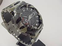 Мужские армейские часы Casio G-Shock GA-100 5081 серый камуфляж хаки