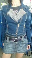 Куртка джинсовая со стразами