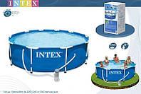 Каркасный бассейн Intex 28212 с фильтром 366х76 см, Metal Frame, 56996