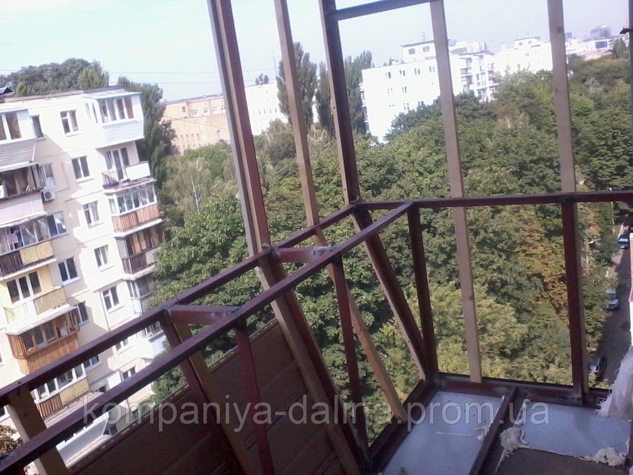 Вынос балкона по плите, цена 1 300 грн./пог.м, заказать в ки.