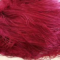 Штора нить кисея однотонная цвет бордовый