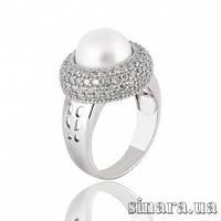 Серебряное кольцо с жемчугом 30853
