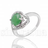 Серебряное кольцо с зеленым агатом 28329