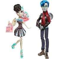 """Набор кукол монстер зай Гаррот Дюрок и Рошель Гойл """"Любовь в Скариже"""" Monster High"""