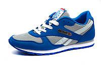Кроссовки Reebok Classic унисекс, комбинированные, серые/ синие, фото 1