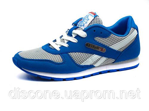 Кроссовки Reebok Classic унисекс, комбинированные, серые/ синие