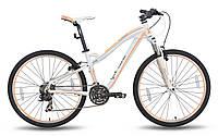 Горный велосипед 26'' PRIDE BIANCA V-br бело-перламутровый матовый 2015