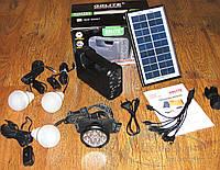 Солнечное зарядное GD-8007 станция фонарь + 3 LED лампы