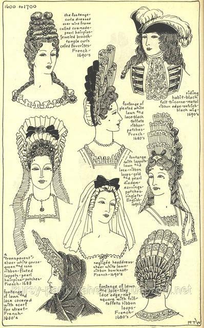 история прически 17 век фото