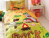 Детское постельное белье 1,5 ТАС™  Sponge Bob Summer Camp