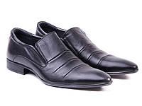 ETOR кожаные черные туфли