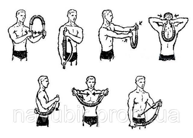 Упражнения с пружинным эспандером для мужчин в картинках 10