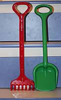 """Игрушечный набор: грабли и лопатка """"Землеройка"""" для игры в песочнице, на даче или в саду."""