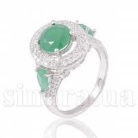 Серебряное кольцо с изумрудом 28323
