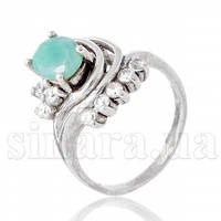 Серебряное кольцо с изумрудом 7849