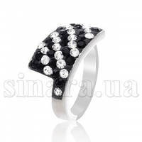 Серебряное кольцо с камнями Сваровски 11041