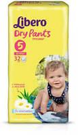"Libero Dry Pants подгузники - трусики ""5"" Maxi+  (10-14 кг) 32 шт либеро драйпентс"