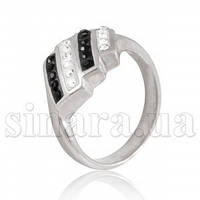 Серебряное кольцо с камнями Сваровски 9735
