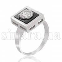 Серебряное кольцо с ониксом 12047